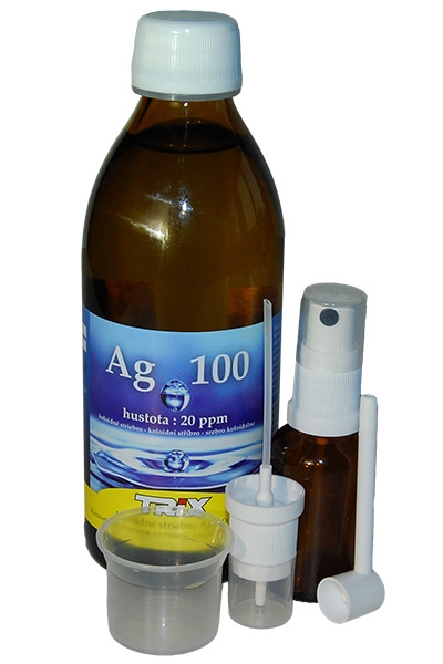 9610b7527 Imunita : Koloidné striebro Ag100 300 ml 20ppm + spray a atomizer